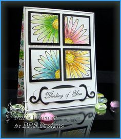 DRS Designs Rubber Stamps: Flowers Squared