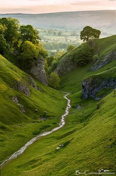 Cavedale, Derbyshire, England by Billy Clapham