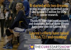 """""""It Started With Two Dreams"""" Lauren Hill, Beacon Of Hope, College Basketball, Effort, Cancer, Thankful, Dreams, College Basket"""