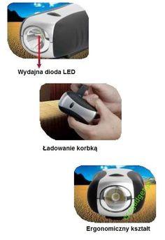 Puma - wydajna i niezawodna latarka korbkowa. Generuje białe intensywne światło, które możesz wykorzystać w każdej sytuacji. 3 tryby świecenia: słabe LED, mocne LED, migające LED. 1 minuta pokręcania to aż 20 minut światła! / Generates intense white light, which can be used in any situation. Three modes: LED weak, strong LED, flashing LED. 1 minute of winding gives 20 minutes of light! PLN59.99 / $20