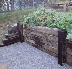 ✅ Railroad Tie Retaining Wall - If you want a rustic look to your retaining wall, consider building a railroad tie retaining wall. A railroad tie retaining wall Wooden Retaining Wall, Railroad Tie Retaining Wall, Retaining Wall Construction, Sleeper Retaining Wall, Building A Retaining Wall, Building A Fence, Railroad Ties Landscaping, Landscaping Retaining Walls, Garden Wall Designs