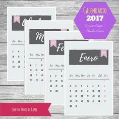calendario 2017 etsy