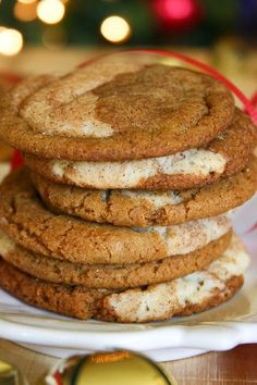Bakergirl: Gingerdoodles (Or Snickersnaps) Delightful gingerbread and snickerdoodle cookies rolled into one!