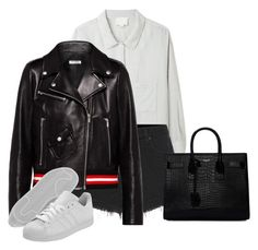 """Untitled #4390"" by ericacavaco12 ❤ liked on Polyvore featuring Band of Outsiders, rag & bone, Miu Miu, Yves Saint Laurent and adidas Originals"