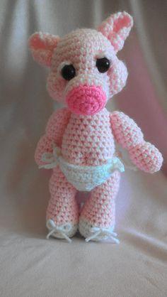 Crocheted Piglet by GGOriginals on Etsy, $5.50