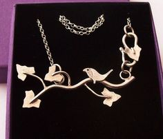 Bird in Ivy Necklace Sterling Silver £85.00