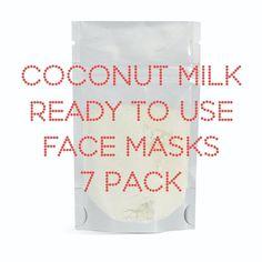 Coconut Milk Facial Mask, Facial Care, Skin Spa Treatment Masks, Bath