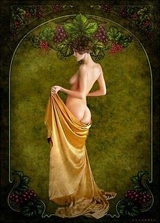 """GESHTINANNA ""IS THE SUMARIAN GODDESS OF THE AUTUMN VINES. IN MYTHOLOGY, SHE IS KNOWN AS ""THE LADY OF THE GRAPE; ""SHE IS THE GODDESS WHO INCARNATED FROM THE VINE. GESHTINANNA IS THE DAUGHTER OF ENKI AND NINSUN AND THE SISTER OF DUMUZI, HUSBAND OF INANNA."