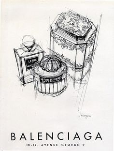 Balenciaga (Perfumes) 1949 Le Dix, La Fuite des Heures, Suzanne Runacher