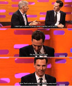 I was lucky enough to be in the audience when this was filmed & it was a fantastic moment.  Benedict looked absolutely blown away ♥