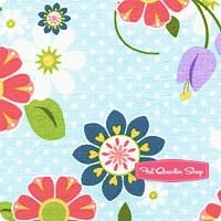 Dream and A Wish Blue Floral Yardage <br/>SKU