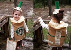 Starbucks Frappuccino Costume and trick or treat bag!