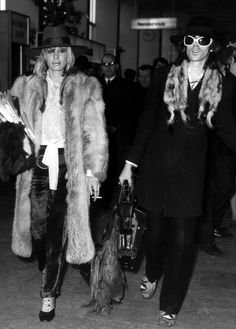 Keith Richards and Anita Pallenberg (who is expecting their first child) at Heathrow Airport en route to Brazil, December 18, 1968. They along with Mick Jagger and Marianne Faithfull were purportedly on their way to find a shaman.