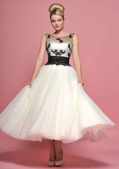 Tea length retro 1950s style tulle wedding dress by Lou Lou – FairyGothMother