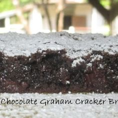 Chocolate Graham Cracker Brownies recipe