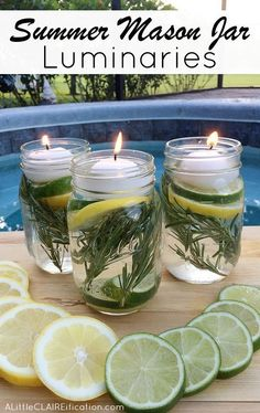 Summer Mason Jar Luminaries Summer Mason Jar Luminaries - These are not only easy and beautiful they are also a chemical free DIY Bug Repellent! Mason Jar Luminaries - These are not only easy and beautiful they are also a chemical free DIY Bug Repellent!