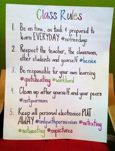 Class Rules for Middle School | We Teach High School