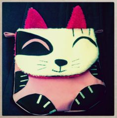 Mon sac chat d'après le patron du sac panda de Laëtibricole