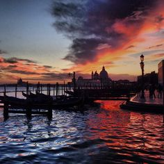 #Sunsets in #Venice are one of the most spectacular sights. Photo courtesy of pklimkiewicz on Instagram.
