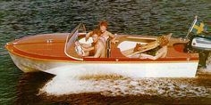 Marieholm Sweet Sixteen 1956 Speed Boats, Power Boats, Runabout Boat, Sailing Dinghy, Classic Wooden Boats, Boat Engine, Old Boats, Aluminum Boat, Boat Building