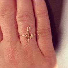 Treble Clef ring 14k gold filled by wiredforfreedom on Etsy fcf2a73aa09a