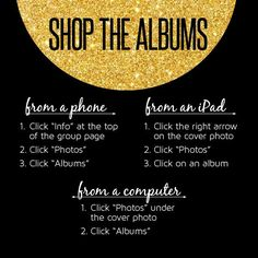 How to find albums to shop on Facebook