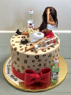 Drunk Barbie Cake Adult Birthday Cakes 19th Ideas