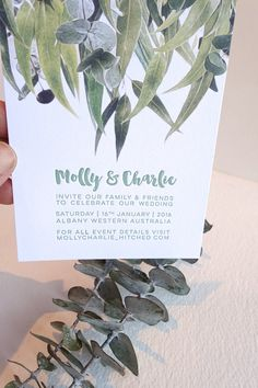 Letterpress invitation SAMPLE wedding by fluidinkletterpress