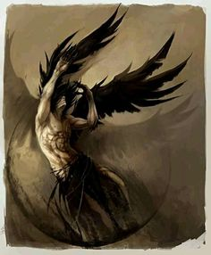 """""""Angels and demons shot into the sky, tumbling and spinning, their black wings screaming--a battle was in the making""""--Melinda Jane Harrison"""