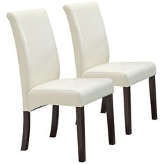 Ripley Set of 2 Ivory Dining Chairs