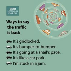 Ways to say the traffic is bad - Do you have to face traffic jams where you live?