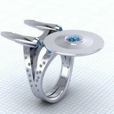 Diamond studded Star Trek ring!!!!!! <---PLEASE  someone get me this!