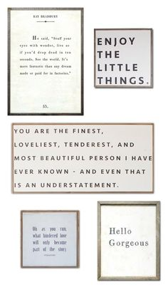 DIY Quote Art…and fr