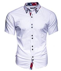 be2ffdcc Kayhan Hombre Camisa Manga Corta Slim Fit S - 6XL - Uni, Hawaii