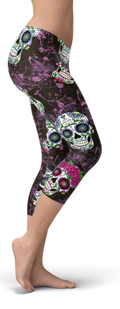 All that's sexy and skully!💋Yoga one of a kind leggings!