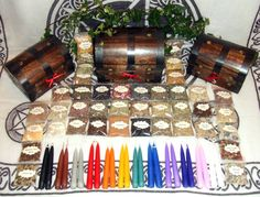 Witch Magical Herb Resin and Candle Set in Wooden Treasure Chests Starter Kit for Rituals Altar Pagan Wicca Spells on Etsy, $149.76 AUD
