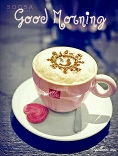 I love cappuccino! Good Morning Coffee, Good Morning Sunshine, Good Morning Friends, Good Morning Good Night, Good Morning Images, Good Morning Quotes, Coffee Break, Morning Morning, Morning Pictures