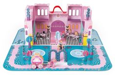Janod Enchanted Castle Princess Palace Playset with Carrying Case-Colorful 2 - Level Castle with Reversible Puzzle Play Mat and 28 Accessories - Encourages Kids to Imagine, Invent and Create-Ages Princess Palace, Princess Castle, Prince And Princess, Little Princess, Christmas Gift Guide, Christmas Wishes, Christmas Gifts, Enchanted Castle, Creative Play