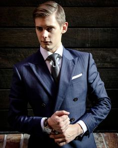 Exquisite style in dark grays and navy blues