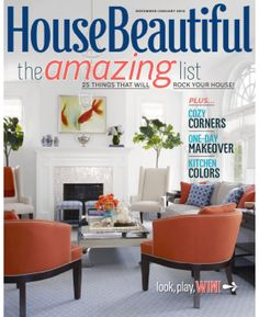 House Beautiful - magazine available through KCKPL Zinio digital magazine account.
