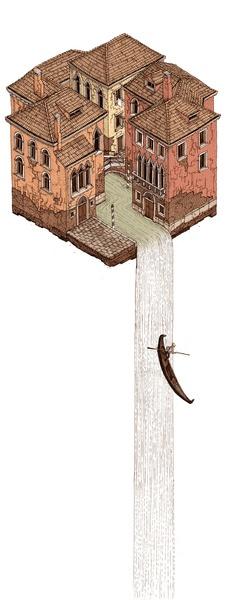 La Cascata Art Print by Evan Wakelin
