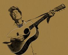 Bob Dylan poster rock music print folk art, guitar musician fan drawing, unique mens gift for him Bob Dylan Poster, Fan Drawing, Chalk Art, Rock Music, Art Day, Insta Art, Digital Prints, Folk, Sketches