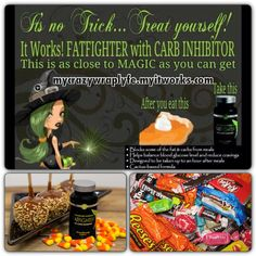 Halloween is a week away I'll be in Candyland  love my sweets there's still time to order with my discount!! You can have your   and it eat too!!! #askmehow #Itworks #ultimatefatfighters