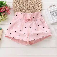 Shorts New Loaded Cotton Season Children's Clothing Female Baby Children's. -Girls Shorts New Loaded Cotton Season Children's Clothing Female Baby Children's. Little Girl Outfits, Toddler Girl Outfits, Little Girl Dresses, Kids Outfits, Girls Dresses, Baby Summer Dresses, Baby Girl Fashion, Kids Fashion, Baby Dress Patterns