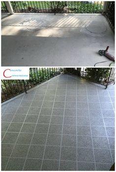 Concrete Patio Color Flake Resurfacing Raleigh NC