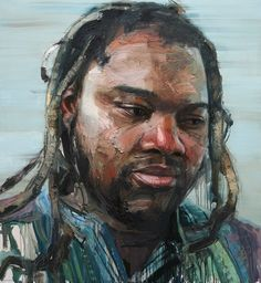 Colin Davidson............Portrait of Wilson Magwere  2012 oil on linen 127 x 117 cm The collection of Standard Chartered Bank of Asia