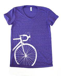 Road Bike Tshirt Women's by Boomerang360 on Etsy, $24.00