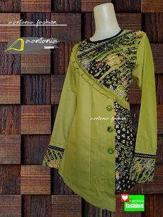Batik Fashion, Hijab Fashion, Fashion Dresses, Blouse Batik, Batik Dress, Batik Muslim, Mode Batik, Casual Hijab Outfit, Brokat