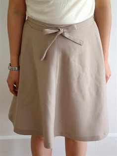 Remember the wrap around and tie skirts?