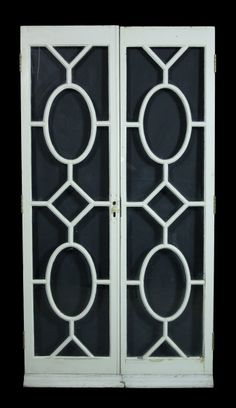 PAIR OF EARLY 20TH C GLAZED PINE FRENCH DOUBLE DOORS - UK Architectural Heritage